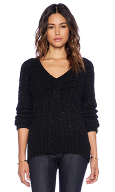 G-Star Sturwed Knit Sweater in Black Heather
