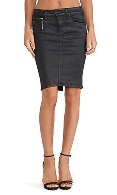 G-Star Midge Sculpted Super Slim Skirt in Cristal Black
