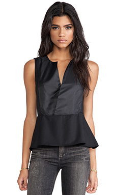 G-Star Marlene Peplum Top in Black