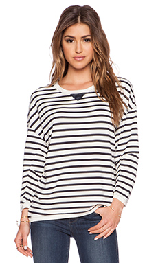 G-Star Isyd Stripe T-Shirt in Milk