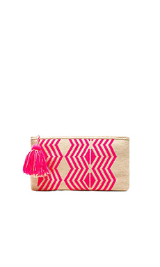 Guanabana Tribal Clutch in Fuchsia