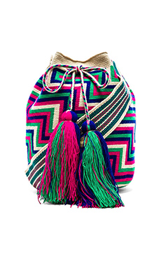 Guanabana Large Bucket Crossbody in Multi