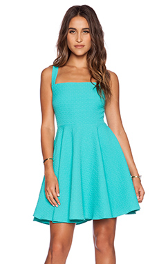 Greylin Aliz Skater Dress in Turquoise
