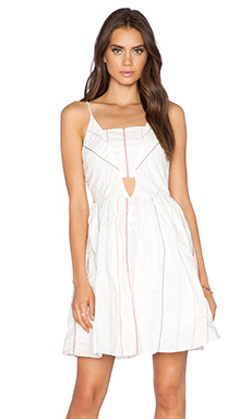 Greylin Kami Deep V Dress in Ivory