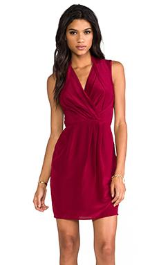 Greylin Camila Silk Crepe Dress in Garnet