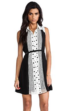 Greylin Bradshaw Shirt Dress in Black & White