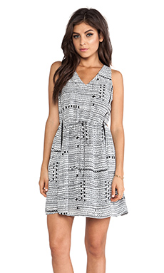 Greylin Gregory Cut-Out Dress in Black & White