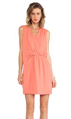 Greylin Debra Overlay Dress in Flamingo