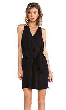 Greylin Tiffany Faux Wrap Dress in Black
