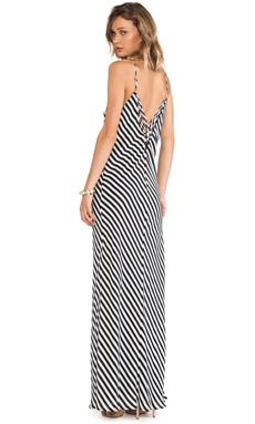 Greylin Taylor Stripe Maxi Dress in Black & White