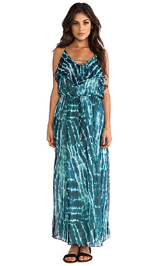 Greylin Poolside Silk Maxi Dress in Blue
