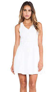 Greylin Patricia Embroidered Fit & Flare Dress in White