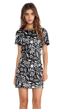 Greylin Gayle Sequin Dress in Black & White