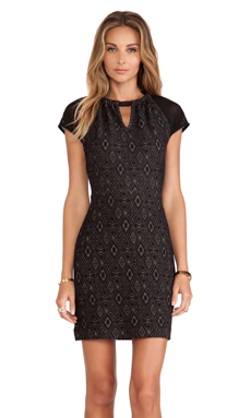 Greylin Lucent Knit Dress in Black