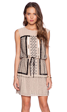 Greylin St. Basi Embellished Sequin Dress in Frappe