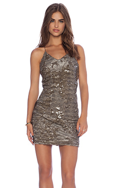 Greylin Alaia Sequins Dress in Mink