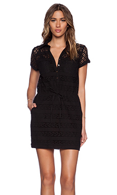 Greylin Jocelyn Lace Shirtdress in Black