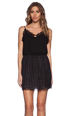 Greylin Chevy Grid Dress in Black