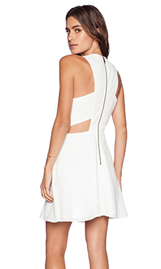 Greylin Carlson Cutout Lace Dress in White