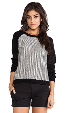 Greylin Dharma Hive Pullover Sweater in Black