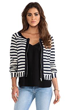 Greylin Trina Striped Knit Cardigan in Navy