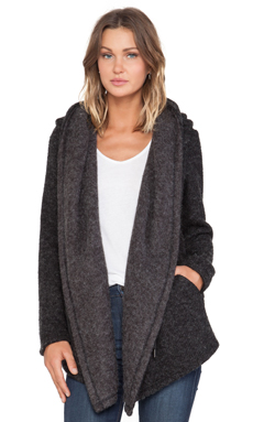 Greylin Lexington Oversized Hoodie Jacket in Black