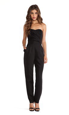 Greylin Lawrence Strapless Jumpsuit in Black