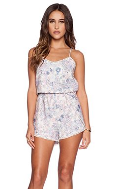 Greylin Danny Floral Romper in Candy Crush