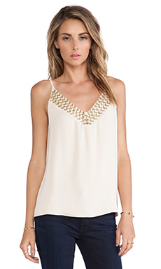 Greylin Jada Embellished Tank in Gold