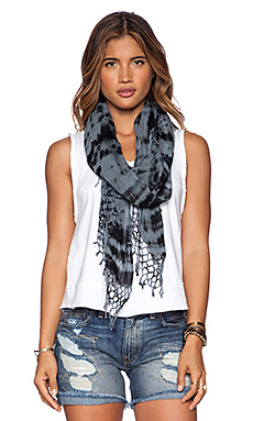 Gypsy 05 Tie Dye Scarf in Black