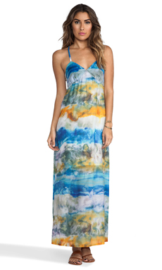 Gypsy 05 Sanur Voile Spaghetti X-Back Maxi Dress in Tropical Reef