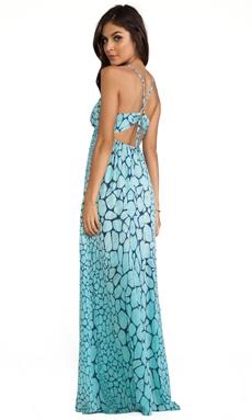 Gypsy 05 Printed Maxi Dress in Aqua