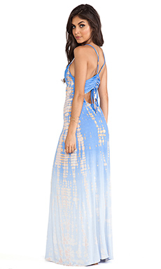 Gypsy 05 Halter Maxi Dress in Blue Bell