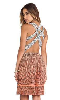 Gypsy 05 Cross Back Dress in Coral