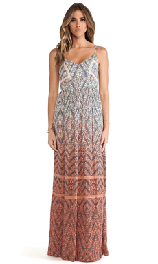 Gypsy 05 Cut Out Maxi Dress in Coral