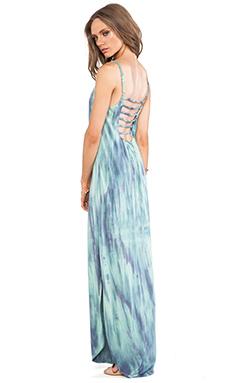 Gypsy 05 Scoop Back Dress in Multi Blue