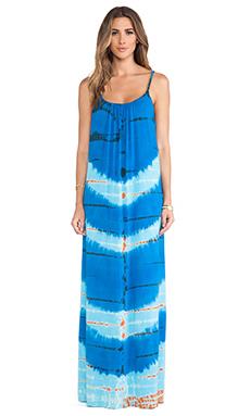 Gypsy 05 Bandar Spaghetti Maxi Dress in Blue & Royal