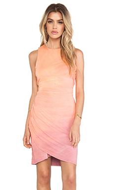 Gypsy 05 Desouk Wrap Dress in Peach & Rose