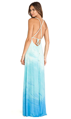 Gypsy 05 Desouk Tie Back Maxi Dress in Aqua & Turquoise