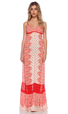 Gypsy 05 Casablanca X Back Maxi Dress in Red