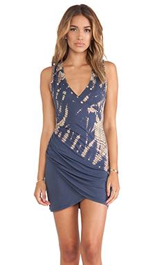 Gypsy 05 Armerina Asymmetrical Drape Dress in Ink Blue
