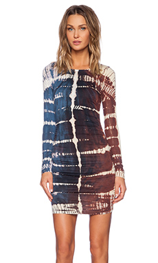 Gypsy 05 Bamboo Shirred Mini Dress in Navy