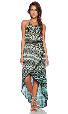 Gypsy 05 Printed Tulip Maxi Dress in Scuba