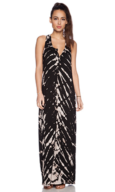 Gypsy 05 Bamboo Racerback Maxi Dress in Black