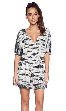 Gypsy 05 Dolman Sleeve Mini Dress in Black & Almond