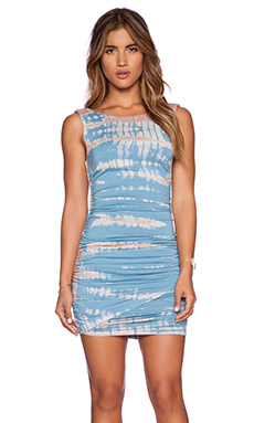 Gypsy 05 Bamboo Shirred Wrap Dress in Blue