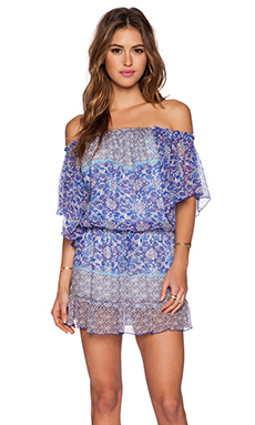 Gypsy 05 Georgette Dolman Mini Dress in Cobalt