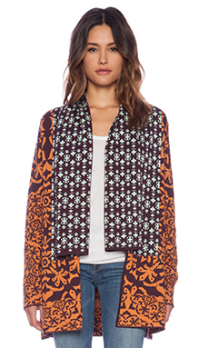 Gypsy 05 Orvieto Drape Cardigan in Nutmeg & Pumpkin