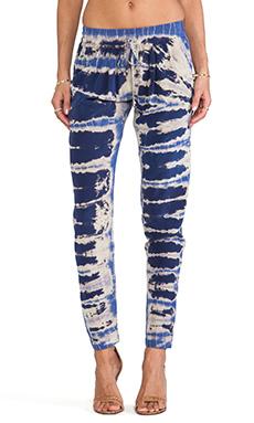 Gypsy 05 Silk Elastic Waist Pants in Navy