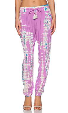 Gypsy 05 Drawstring Pant in Violet & Caribbean Blue
